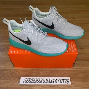 12617797666f New Nike Roshe Run Grey Turquoise Mens Size 9.5